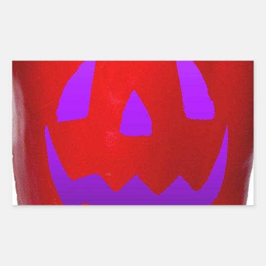 Purple Glow Red Bell Peppolantern Rectangular Sticker