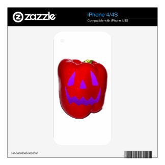 Purple Glow Red Bell Peppolantern Skins For The iPhone 4S