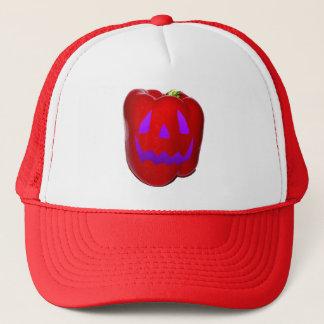 Purple Glow Red Bell Peppolantern Trucker Hat