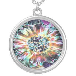 Purple Glow Round Pendant Necklace