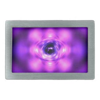 Purple glowing atom belt buckle
