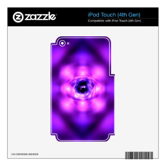 Purple glowing atom decals for iPod touch 4G