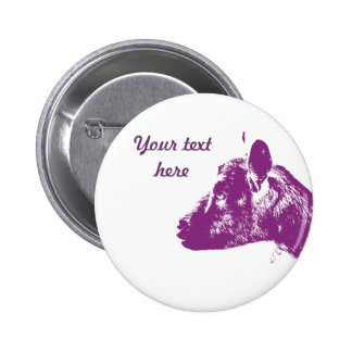 Purple Goat Button