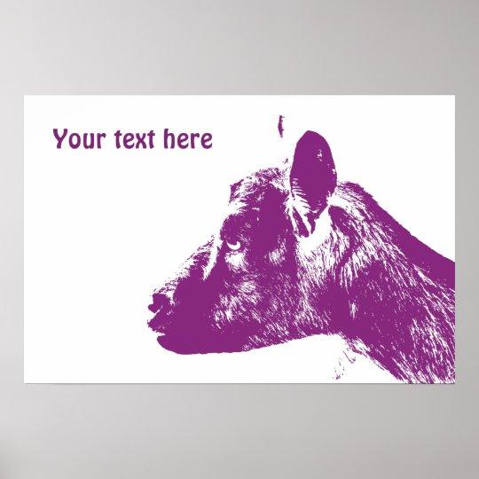 Purple Goat Poster
