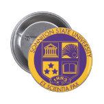 Purple/Gold 2 Inch Round Button