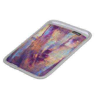 Purple & Gold Abstract Oil Painting Metallic iPad Mini Sleeves