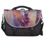Purple & Gold Abstract Oil Painting Metallic Commuter Bags