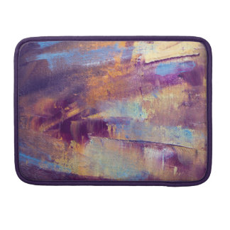 Purple & Gold Abstract Oil Painting Metallic Sleeves For MacBook Pro