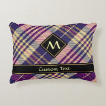 Purple, Gold and Blue Tartan Accent Pillow