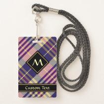 Purple, Gold and Blue Tartan Badge