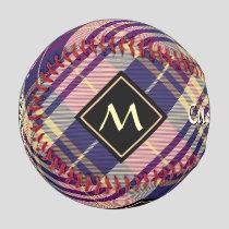 Purple, Gold and Blue Tartan Baseball