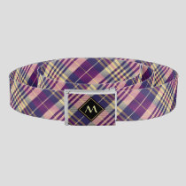 Purple, Gold and Blue Tartan Belt