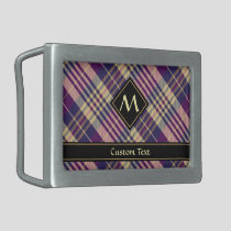 Purple, Gold and Blue Tartan Belt Buckle