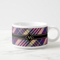 Purple, Gold and Blue Tartan Bowl