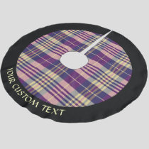 Purple, Gold and Blue Tartan Brushed Polyester Tree Skirt