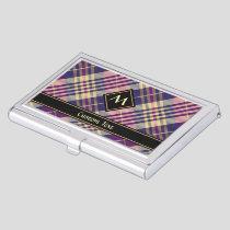 Purple, Gold and Blue Tartan Business Card Case