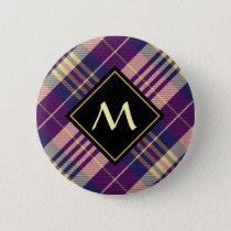 Purple, Gold and Blue Tartan Button