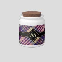 Purple, Gold and Blue Tartan Candy Jar