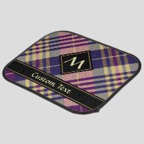 Purple, Gold and Blue Tartan Car Floor Mat