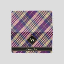 Purple, Gold and Blue Tartan Checkbook Cover