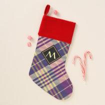 Purple, Gold and Blue Tartan Christmas Stocking
