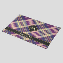 Purple, Gold and Blue Tartan Cloth Placemat