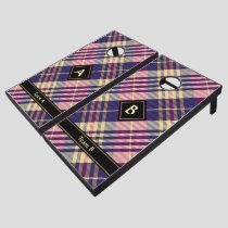 Purple, Gold and Blue Tartan Cornhole Set