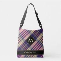 Purple, Gold and Blue Tartan Crossbody Bag