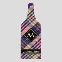 Purple, Gold and Blue Tartan Cutting Board