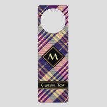Purple, Gold and Blue Tartan Door Hanger