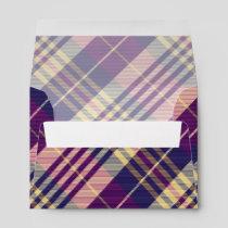 Purple, Gold and Blue Tartan Envelope