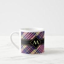Purple, Gold and Blue Tartan Espresso Cup
