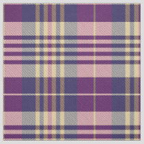 Purple, Gold and Blue Tartan Fabric
