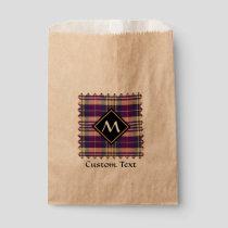 Purple, Gold and Blue Tartan Favor Bag