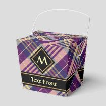 Purple, Gold and Blue Tartan Favor Box