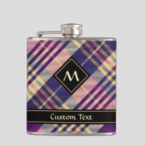Purple, Gold and Blue Tartan Flask