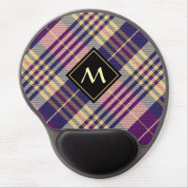 Purple, Gold and Blue Tartan Gel Mouse Pad
