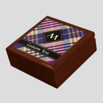 Purple, Gold and Blue Tartan Gift Box