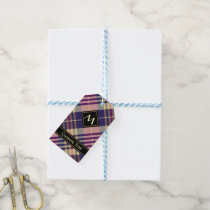 Purple, Gold and Blue Tartan Gift Tags