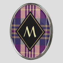 Purple, Gold and Blue Tartan Golf Ball Marker
