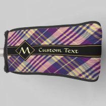 Purple, Gold and Blue Tartan Golf Head Cover