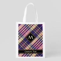 Purple, Gold and Blue Tartan Grocery Bag