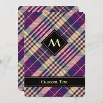 Purple, Gold and Blue Tartan Invitation