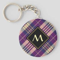 Purple, Gold and Blue Tartan Keychain