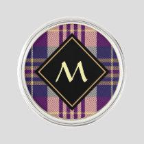 Purple, Gold and Blue Tartan Lapel Pin