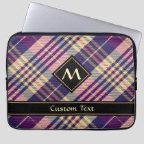 Purple, Gold and Blue Tartan Laptop Sleeve