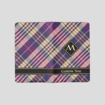 Purple, Gold and Blue Tartan Large Moleskine Notebook