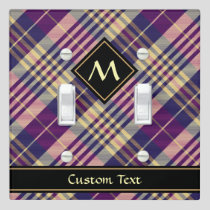 Purple, Gold and Blue Tartan Light Switch Cover
