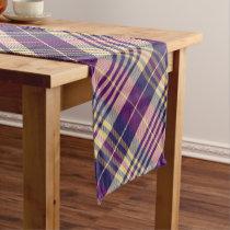 Purple, Gold and Blue Tartan Long Table Runner