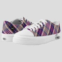 Purple, Gold and Blue Tartan Low-Top Sneakers